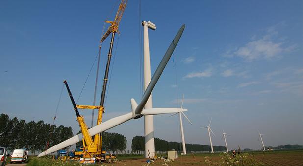 BKV windmolen hijsen voor de kop